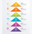 6 triangle timeline infographic options paper vector image
