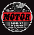 garage repair service print for t shirt in custom vector image