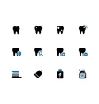 Tooth teeth duotone icons on white background vector image vector image