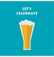 celebration invitation with glass of beer vector image