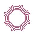 Logo Octagon Palebrown Abstract vector image