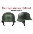Military German helmet of WW2 vector image