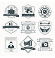 Set of Photography Badges Labels and Logos vector image