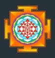 colored Sri yantra vector image