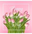 Valentines day greeting card EPS 10 vector image vector image