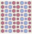 vintage flowers pattern in retro colors vector image