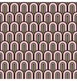 Gold glitter black and white fish scale geometric vector image