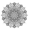 Black Mandala with Hearts vector image