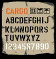 Cargo font vector image