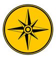 Compass button vector image