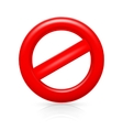 Do Not warning sign vector image