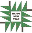 Happy New Year Greeting Card Paper cut collage vector image