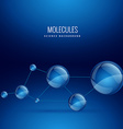 molecule shape design background vector image