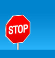 sign stop background vector image