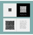 Business card zentangle ornament design vector image