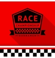 Racing stamp-08 vector image