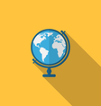 Flat icon of globe with long shadow style vector image vector image