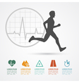 fitness infographic vector image