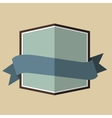 Blue vintage badge vector image vector image