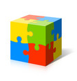 Puzzle cube vector image