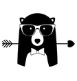 animal hipster lifestyle vector image