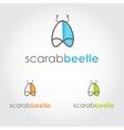Bug sign icon Beetle logo template design vector image