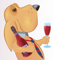 Dog with drink vector image
