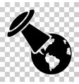 ufo explores earth icon vector image