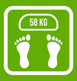 weight scale icon green vector image
