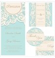 Wedding invitation set vector image vector image