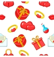 14 February pattern cartoon style vector image