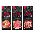meat products delicatessen banners sketch vector image