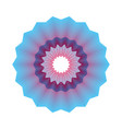 guilloche pattern rosette for play money or othe vector image