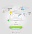 Website design elements Vcart template vector image vector image