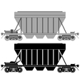Railway carriage for bulk cargo-1 vector image vector image