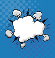 Clouds boom backgrounds vector image vector image