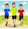 young runner men running outdoors vector image vector image