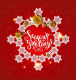card snowflakes on red vector image