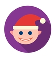 Christmas elf icon in flat style isolated on white vector image