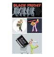 Digital set black friday sale vector image