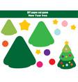 diy children educational creative game paper cut vector image