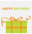 Gift box with orange ribbon and bow Present vector image
