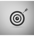 Icon target with dart isolated vector image