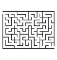 maze or labyrinth with entry and exit vector image