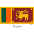 National flag of Sri Lanka with correct vector image