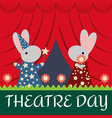 rabbits on the stage vector image