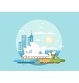 Sydney city flat design vector image