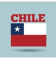 chile country flag vector image