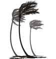 Palms in the wind vector image