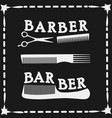 frame  hairdressing scissors and comb icon vector image